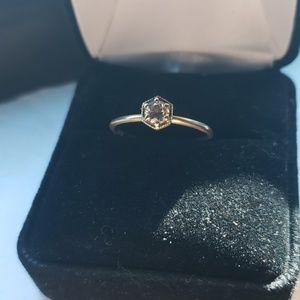 Satomi Kawakita Hexagon Engagement Ring